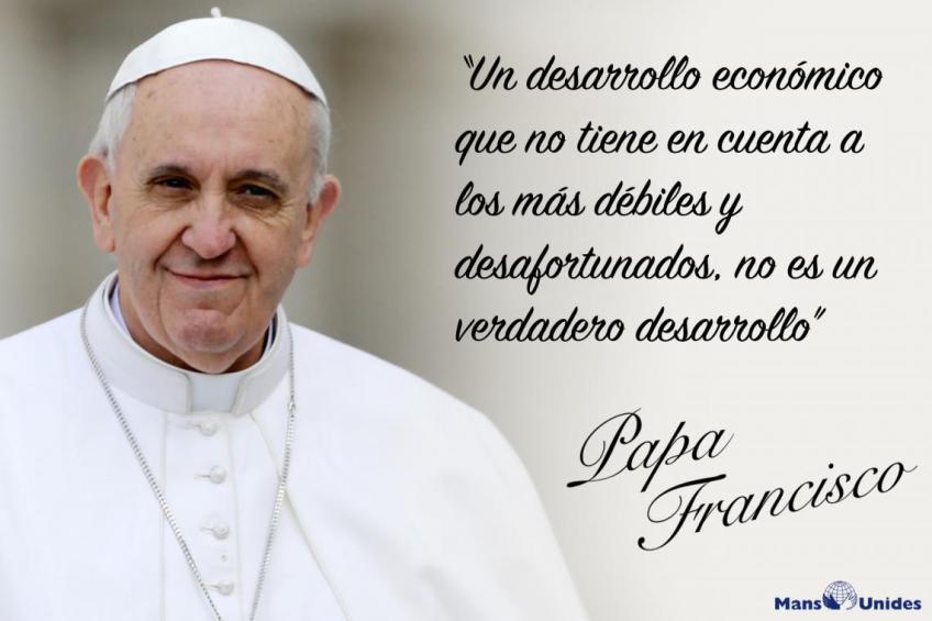 Frase Papa Francisco Desarrollo Parroquia San Juan De La Cruz